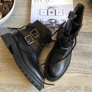 Hudson Kerb Strap Leather Boot